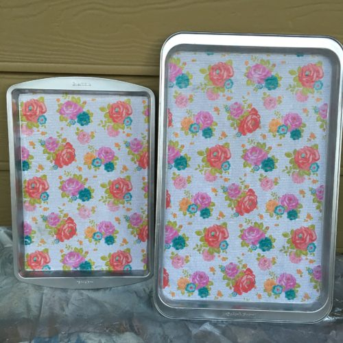 Floral cookie sheets