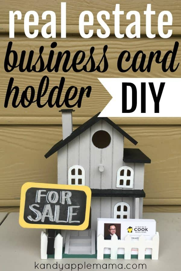 DIY Real Estate Business Card Holder