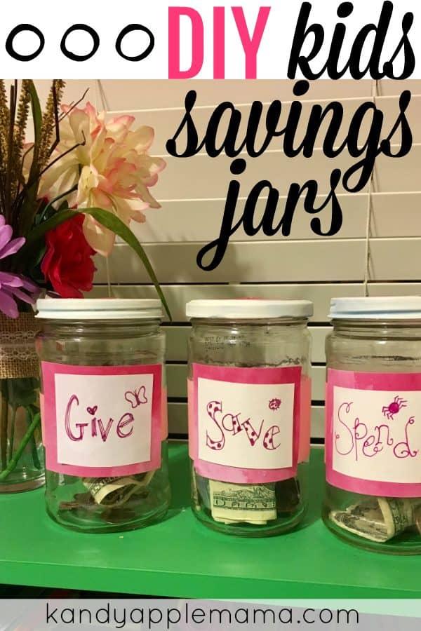 DIY Kids Saving Jars