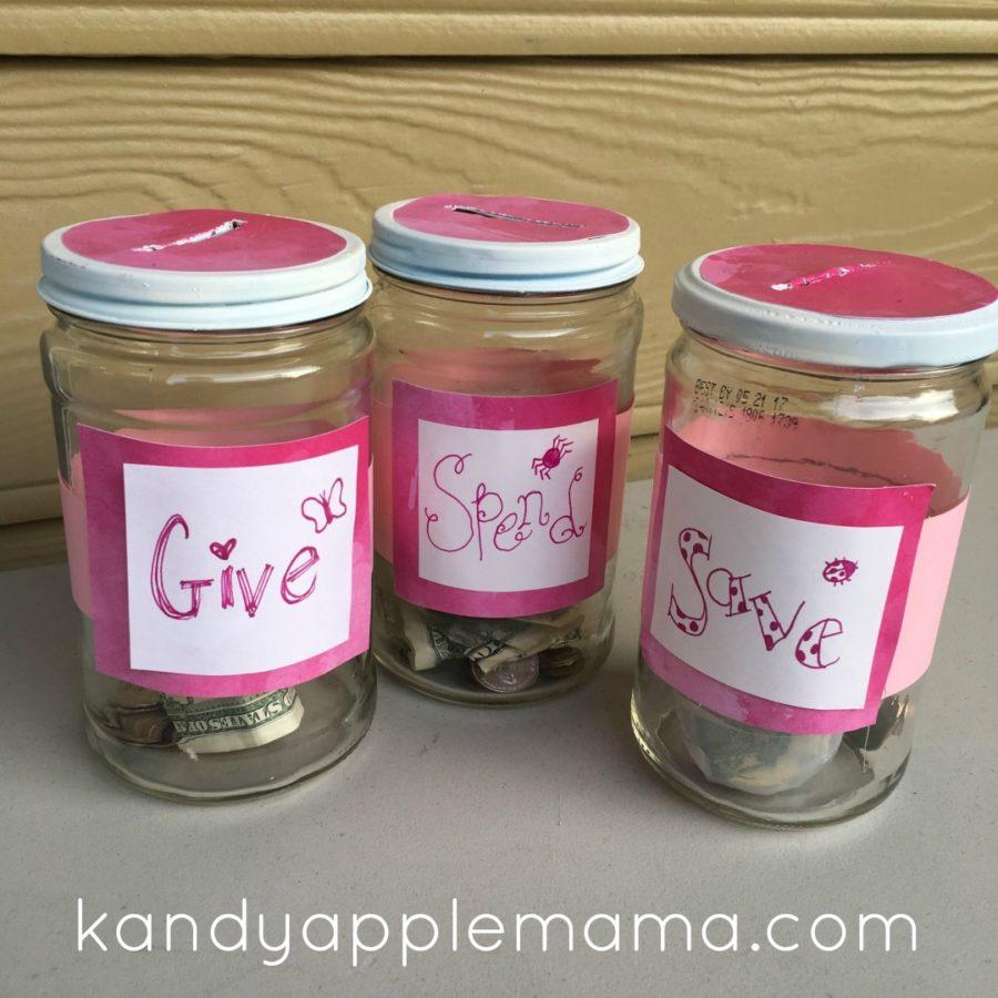 DIY Kids Savings Jars
