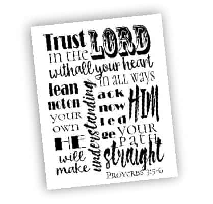 Bible Verse Art Printable