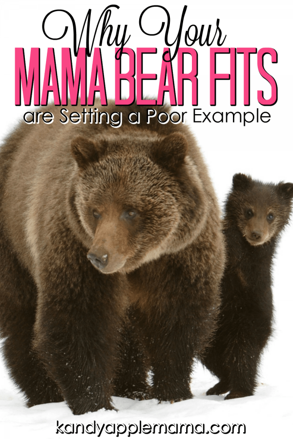 Teach your Children to Accept Responsibility. Mama-bear fits are setting a bad example.