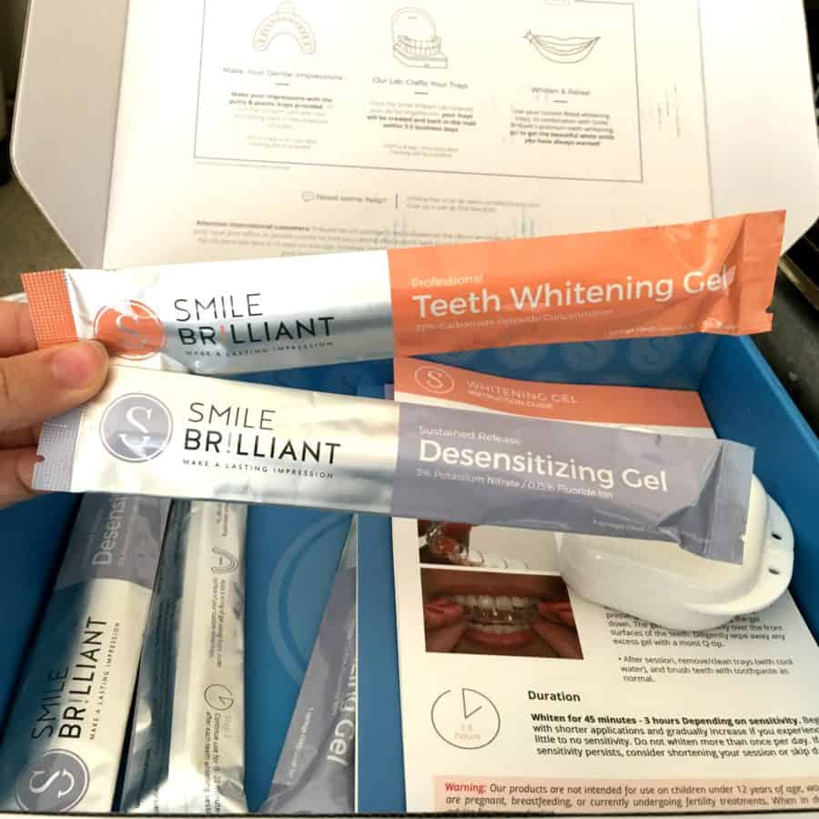 whitening and desensitizing gel