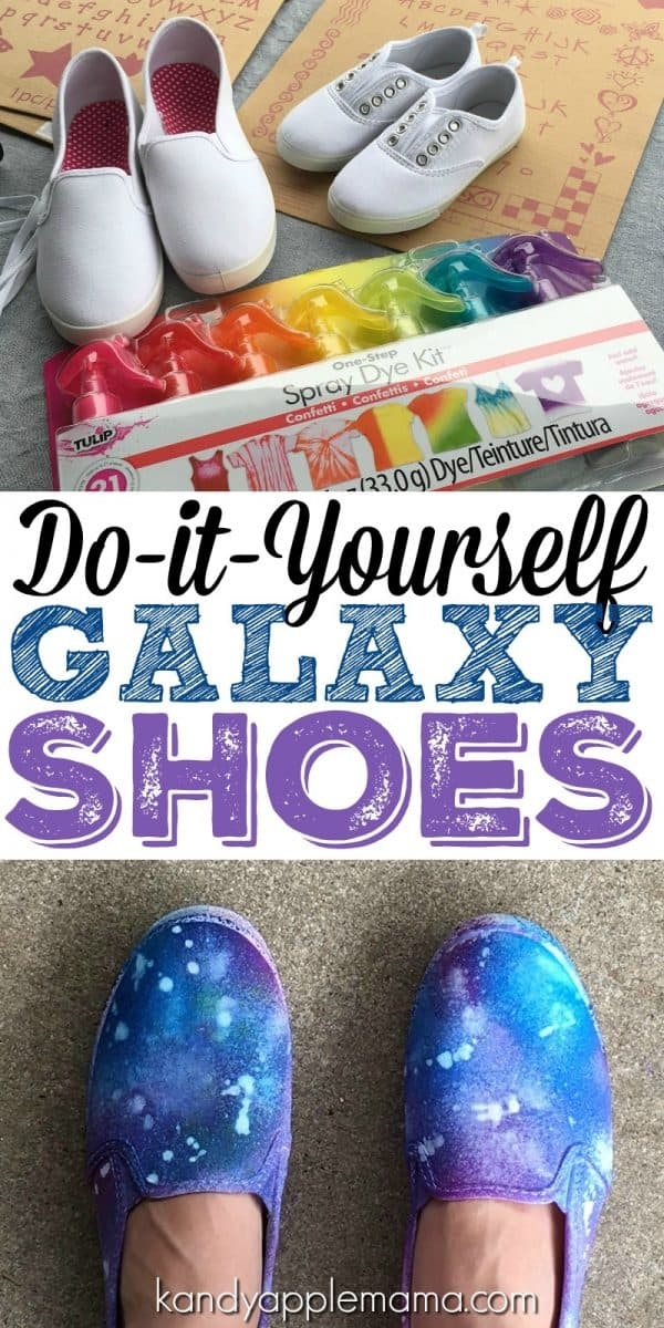 DIY Galaxy Shoes! A Tie-Dye Kids Craft