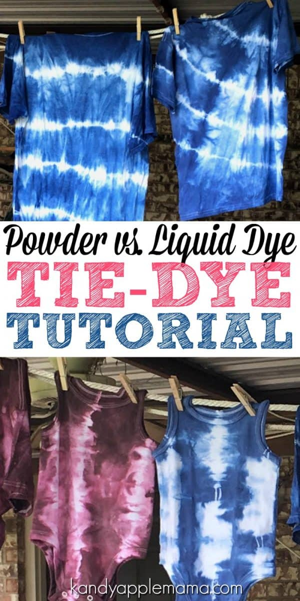 Tie-Dye Tips and Tutorial: Powdered Dye vs. Liquid Dye