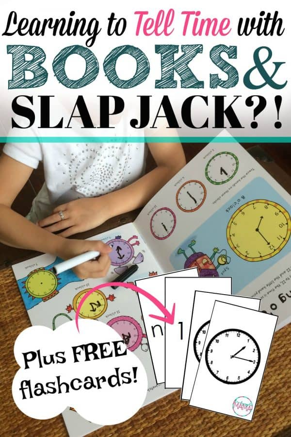 Telling Time Game: Teach kids to tell time with SLAP JACK? (Plus FREE printable flashcards!)