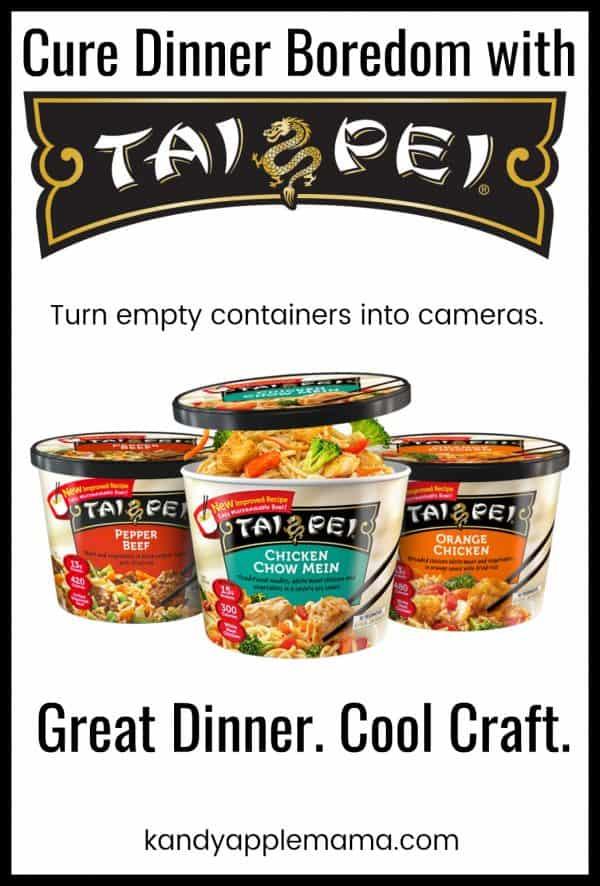 DIY Camera using Tai Pei food containers.