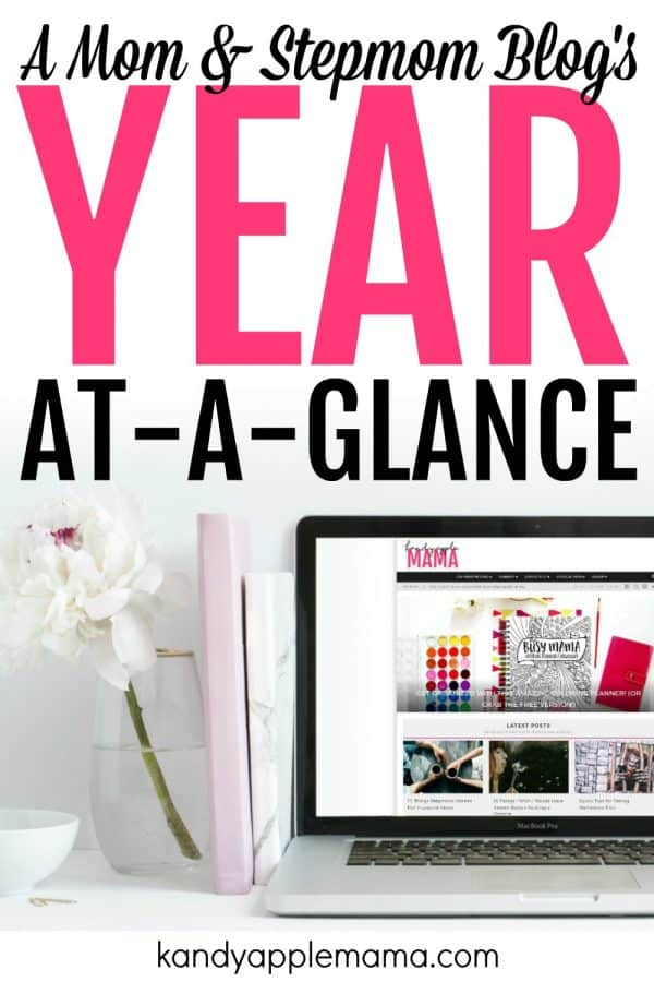 1 Year Blogiversary: A Mom and Stepmom Blog's Year-at-a-Glance