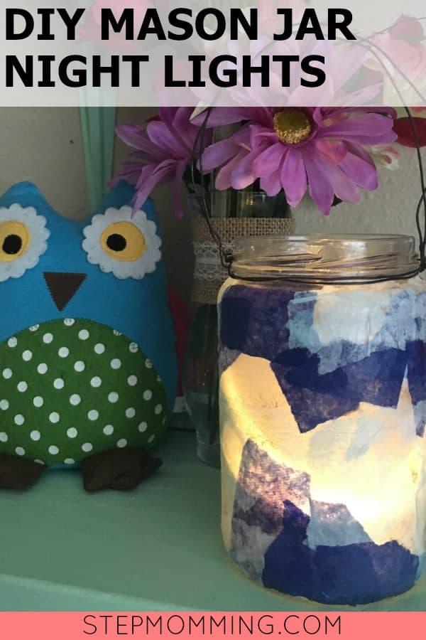 DIY Mason Jar Night Lights | DIY Night Lights | Mason Jar Crafts