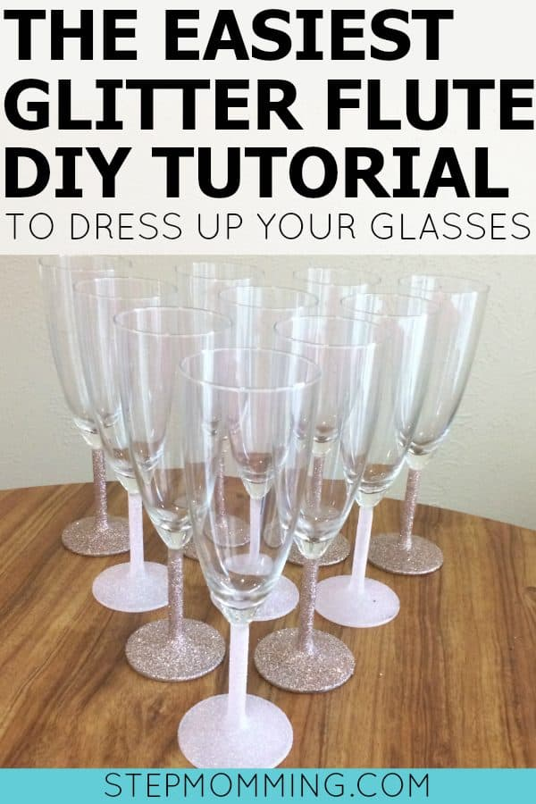 The Easiest Glitter Flute DIY Tutorial to Dress Up Your Glasses | DIY Glitter Flute Tutorial | How to Make Your Own Bridal Shower Glitter Champagne Flutes | Glitter Wine Glasses DIY Tutorial | DIY Glitter Champagne Flutes | Bridal Shower Champagne Brunch