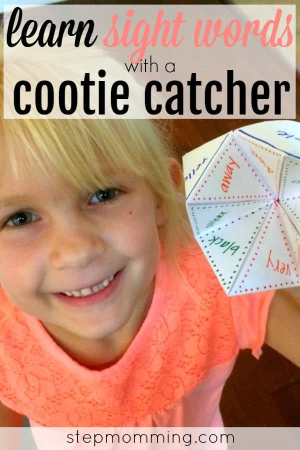 Learning Sight Words Game   Learning Sight Words Activity   Learning How to Spell   Learning How to Read   Homeschool Game   Homeschool Activity   Elementary Learning Game   Make Learning Fun   Learning Sight Words with a Cootie Catcher   Learning Sight Words with a Fortune Teller