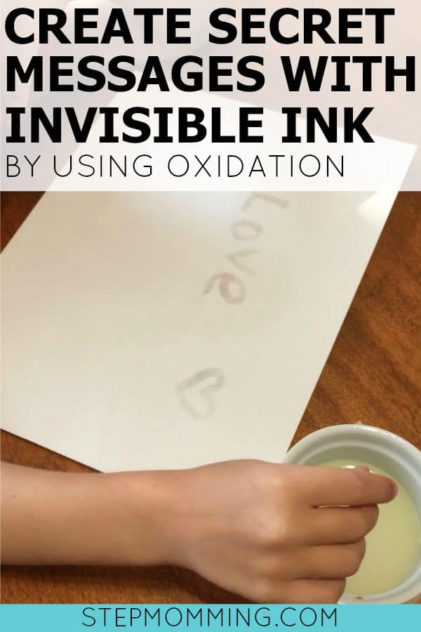 Create Secret Messages with Invisible Ink by Using Oxidation | Homeschool Science Experiment for Kids | Write Secret Messages with Invisible Ink | Using Oxidation to Write Secret Messages with Invisible Ink | Fun Science Experiment | Homeschooling Activity | Fun Homeschooling Science Experiment