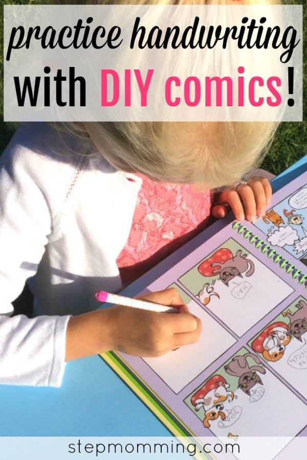 Practice Handwriting with DIY Comics | Handwriting Worksheets | Fun Handwriting Activity | Handwriting Game | Practice Writing Skills | Homeschooling Activity