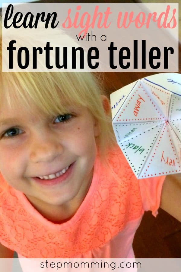 Learning Sight Words Game | Learning Sight Words Activity | Learning How to Spell | Learning How to Read | Homeschool Game | Homeschool Activity | Elementary Learning Game | Make Learning Fun | Learning Sight Words with a Cootie Catcher | Learning Sight Words with a Fortune Teller