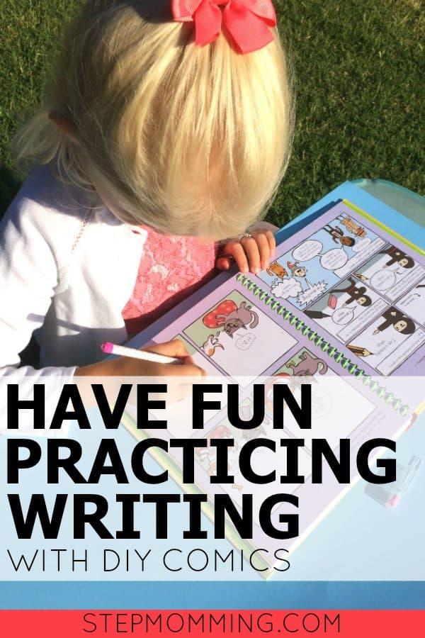 Practice Handwriting with DIY Comics   Handwriting Worksheets   Fun Handwriting Activity   Handwriting Game   Practice Writing Skills   Homeschooling Activity