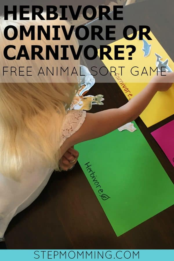 Herbivore Omnivore or Carnivore - Animal Sort Game | Kids Science Activity | Free Science Printable | Free Animal Sort Game | Beyond the Classroom