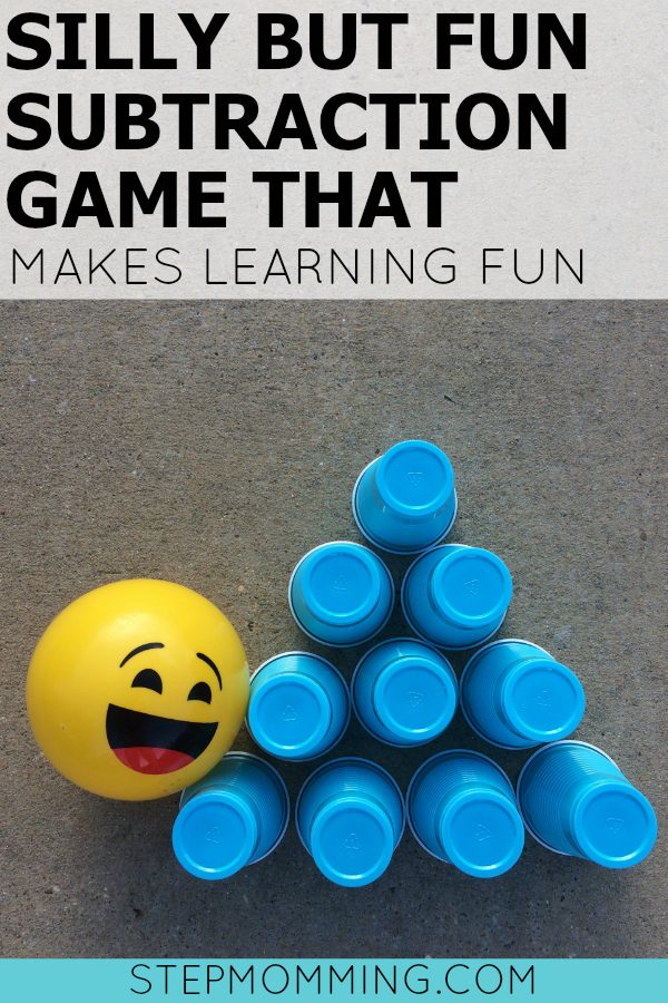 Think beyond the classroom, worksheets, and flashcards. Have a blast teaching your little one important math concepts with this fun subtraction game! | Silly But Fun Subtraction Game that Makes Learning Fun | Subtraction Game | Fun Math Game | Make Learning Fun | Learn how to Subtract | Free Subtraction Activity | Homeschooling Subtraction Activity | Homeschooling Math Game