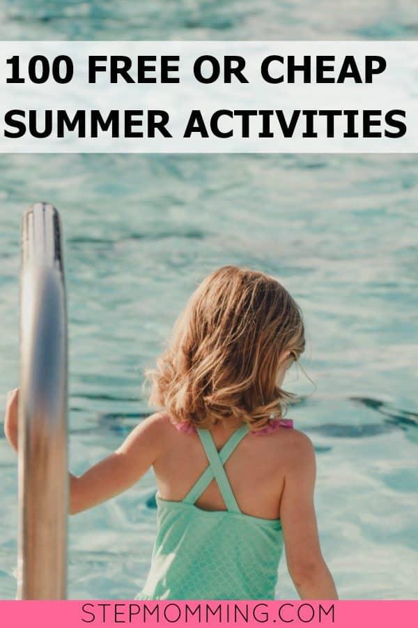 100 Free or Cheap Summer Activities   #summerfun   Summer Activities   Keep Kids Occupied during the summer   Summer break activities   free summer fun