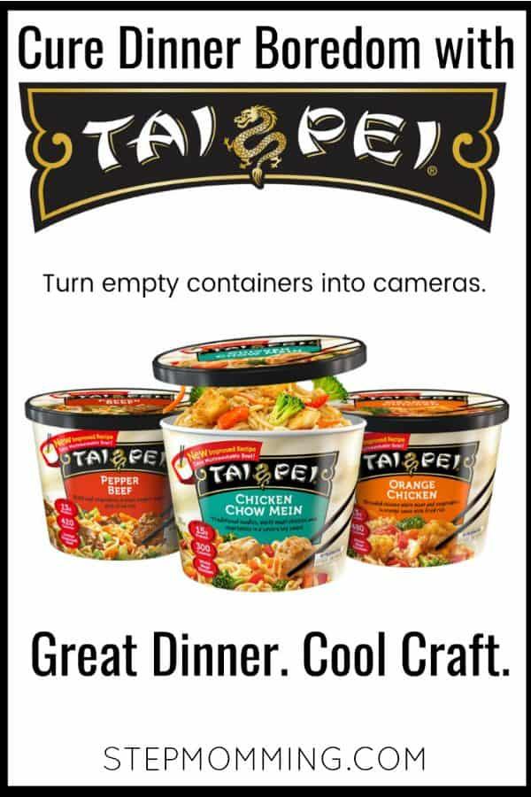 DIY Cameras using empty Tai Pei Food containers