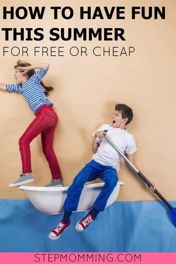 100 Free or Cheap Summer Activities | #summerfun | Summer Activities | Keep Kids Occupied during the summer | Summer break activities | free summer fun