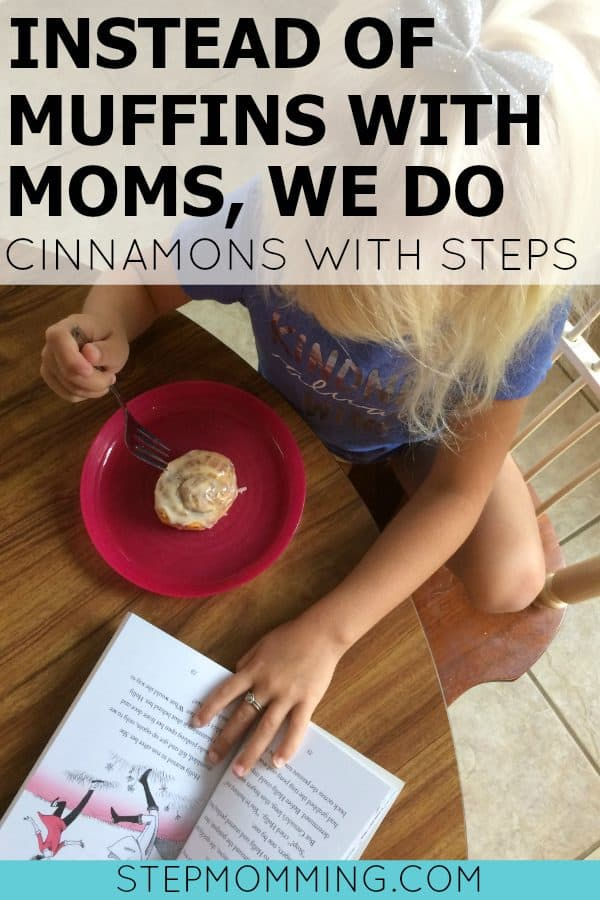 Instead of Muffins with Moms, We Do Cinnamons with Stepmoms   Bonding with stepchildren - cinnamon rolls with stepmom   Bonding with Stepchildren   How to Implement Stepfamily Traditions   Stepmom Bonding   Stepmom Resources   Stepmom Help   Blended Family Resources   Blended Family Help   Stepmom Quotes   Stepfamily Life   Stepparenting Tips   Stepmomming Blog