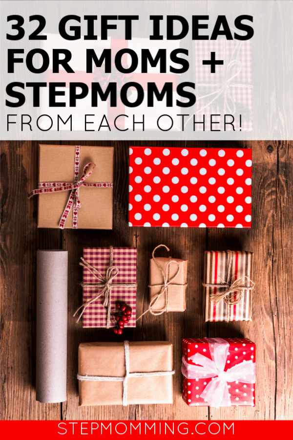 32 Gift Ideas for Moms and Stepmoms from Each Other. Gifts for Mom and Stepmom: 32 gift ideas to get the other mother in your life! Gift ideas for co-parents and blended family gifts for Christmas #blendedfamily #blendedChristmas #giftideas