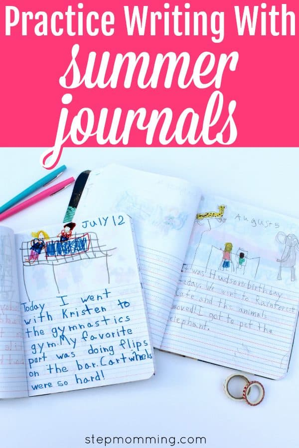 Practice Writing with Summer Journals   Overcome the Summer Slide with this Genius Parenting Hack   Elementary School Summer Writing Practice   Elementary Education Game   Elementary Handwriting Practice