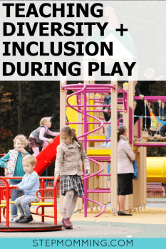 5 ways parents can model inclusive play to promote diversity and inclusion to their children, raising empathic, considerate, and respectful children that don't bully #betterparenting #inclusiveplay #ShapedByPlay #PlayLSI #ad