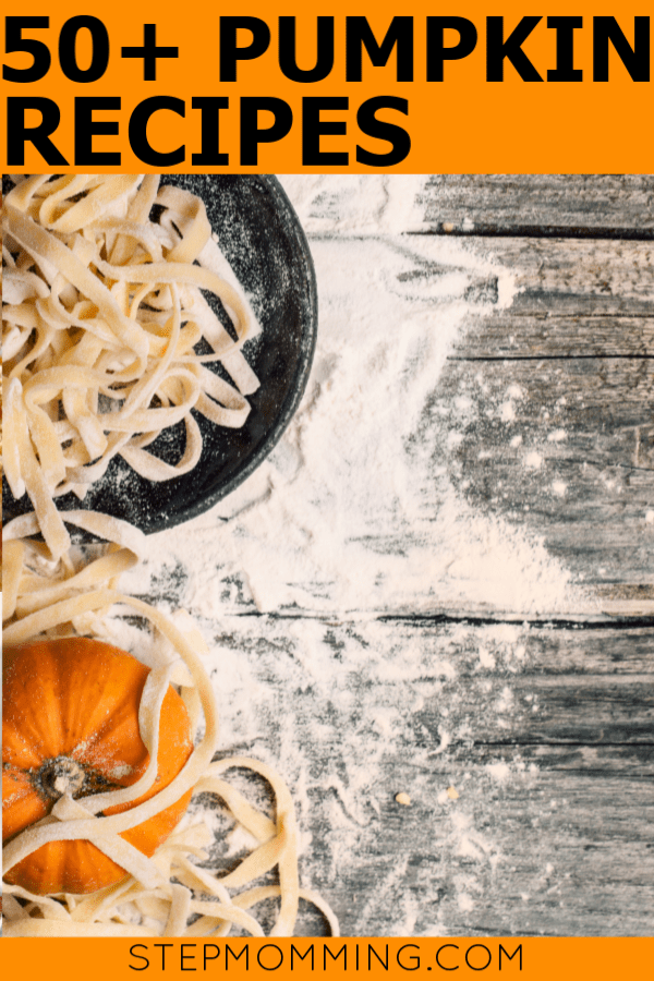Think beyond the pumpkin pie! 50+ delicious pumpkin recipes perfect for Halloween, Thanksgiving, and Fall holidays, potlucks, parties, and general eating! You'll LOVE these #pumpkinrecipes #pumpkinspice #pumpkinspicerecipes #thanksgivingrecipes #halloweentreats #halloweenrecipes #halloweendinner #pumpkindessert #pumpkinbreakfast #pumpkinsnack