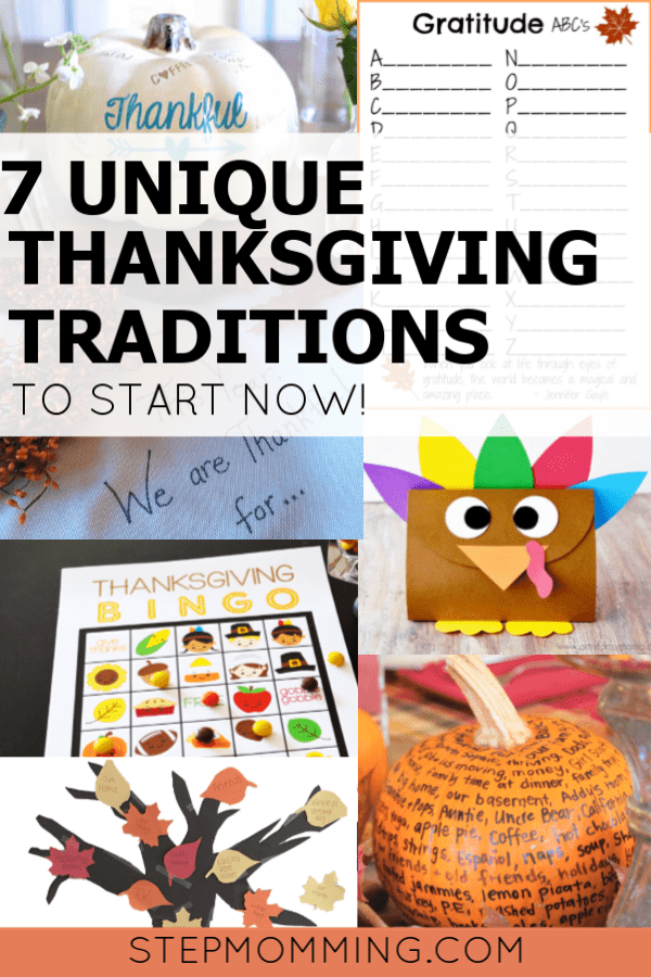 7 Unique Thanksgiving Traditions to Start Now in your Blended Family, Stepmom! Stepmom Thanksgiving Traditions for Blended Family #stepmom #thanksgiving #blendedfamily #thanksgivingtradition