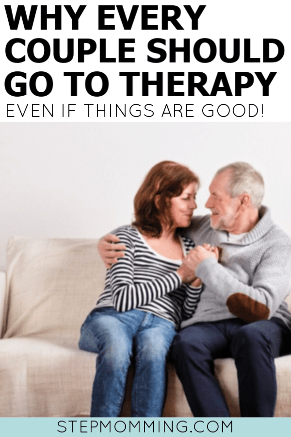 Why every couple should go to therapy - even if things are good! Marriage counseling is not what you think. It strengthens your marriage and arms you with the tools you need for a successful relationship and lifetime of happiness and love! #marriageadvice #marriagetips #love