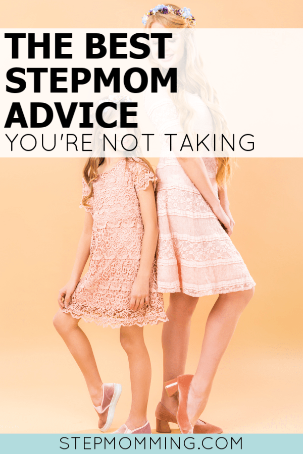 This is hands-down the BEST stepmom advice... but you're probably not taking it! If things are high-conflict in your blended family, this could be the advice you need, stepmom! #stepmom #stepmomming #blendedfamily