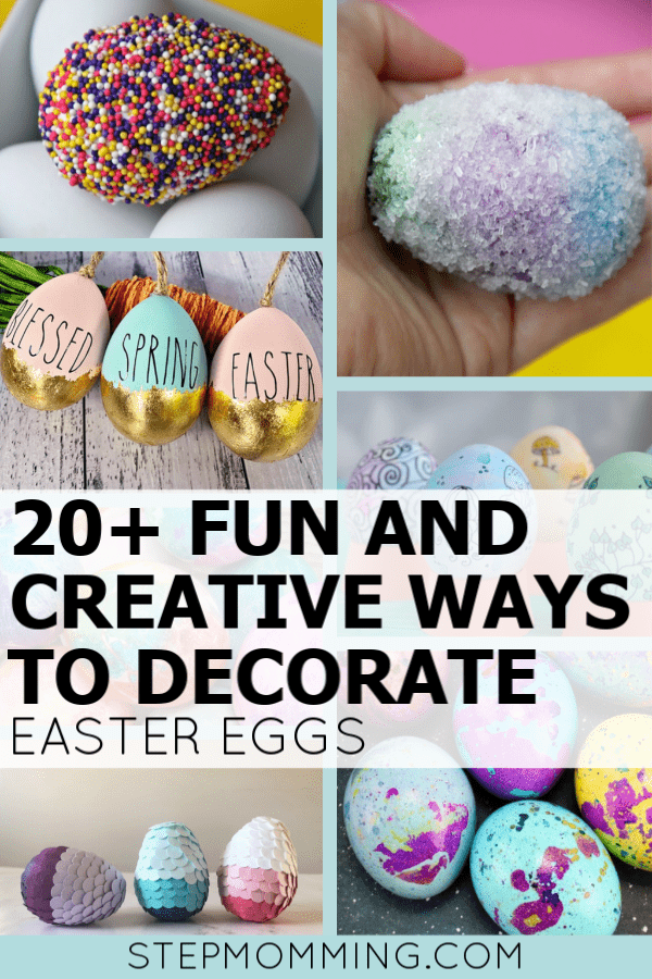 I can't choose a favorite! All of these ways to decorate Easter eggs with kids are so fun and creative! From classy to cute, these are seriously adorable! I can't wait to craft with my little one for Easter! #easter #eastereggs