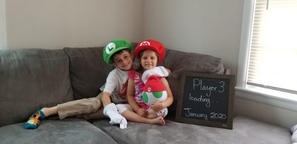 Mario pregnancy announcement player 3 loading