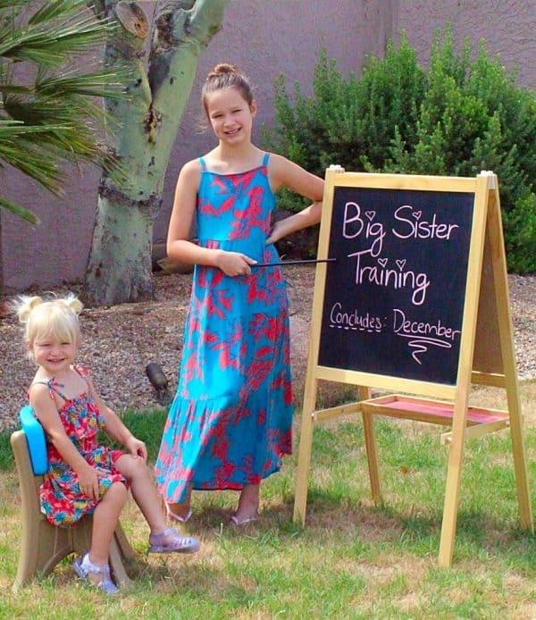 big sister training pregnancy announcement