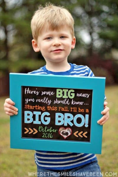 chalkboard big brother announcement